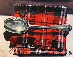 Tartan Spoon (TAE18 Edinburgh submission) SOLD