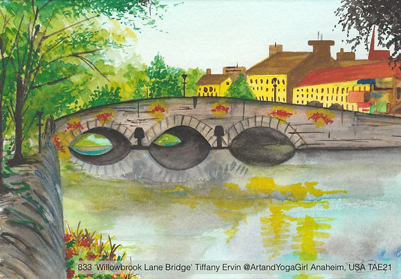 833 'Willowbrook Lane Bridge' Tiffany Ervin @ArtandYogaGirl Anaheim, USA TAE21