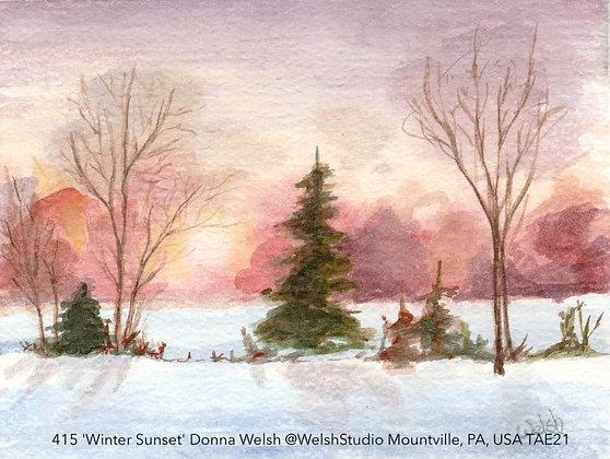 415 'Winter Sunset' Donna Welsh @WelshStudio Mountville, PA, USA TAE21