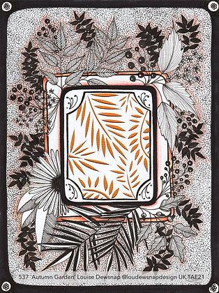 537 'Autumn Garden' Louise Dewsnap @loudewsnapdesign  UK TAE21