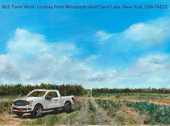 863 'Farm Work' Lindsay Frost @lindsayfrostart Sand Lake, New York, USA TAE21
