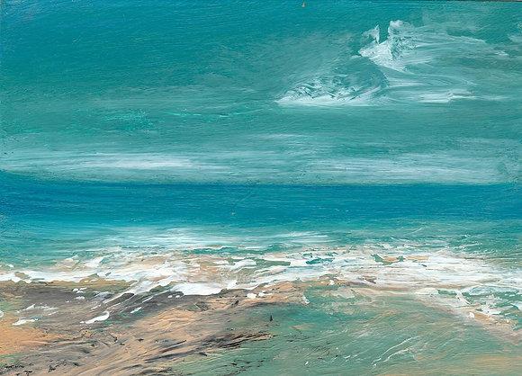 742 'Cornish Seashore' Christine Brunnock @cbrunnockart Cornwall, UK TAE21