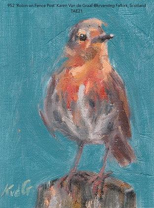 952 'Robin on Fence Post' Karen Van de Graaf @krvandeg Falkirk, Scotland TAE21