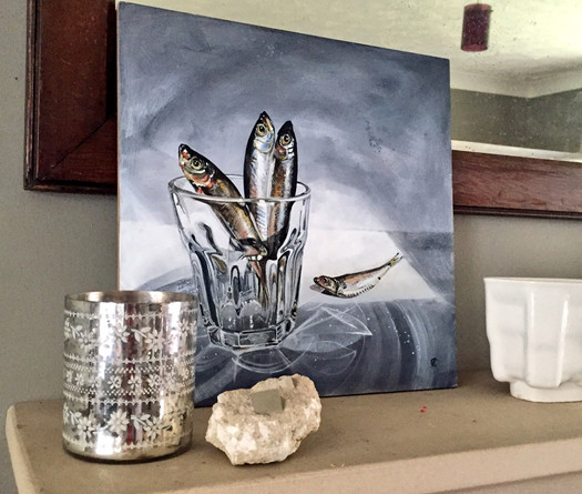 Glassful of Sprats -  ©Cat Salter-Smith
