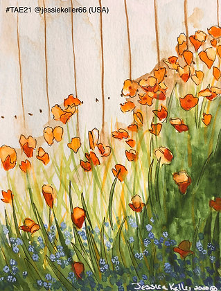 136 'Poppies and Forget-me-nots' Jessica Keller @jessiekeller66 USA