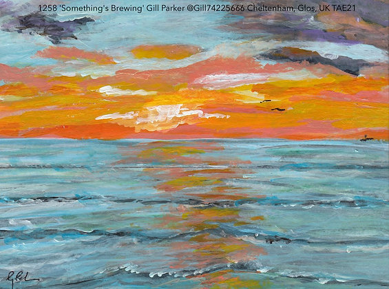 1258 'Something's Brewing' Gill Parker @Gill74225666 Cheltenham, Glos, UK TAE21