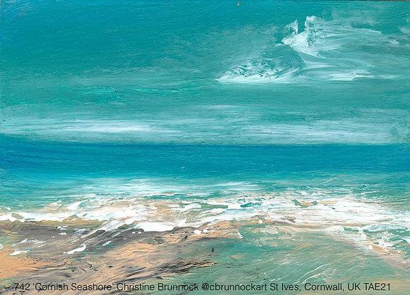 742 'Cornish Seashore' Christine Brunnock @cbrunnockart St Ives, Cornwall, UK TA