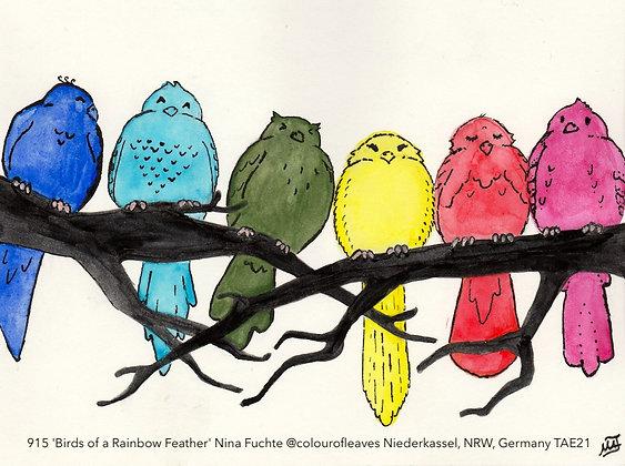 915 'Birds of a Rainbow Feather' Nina Fuchte @colourofleaves TAE21