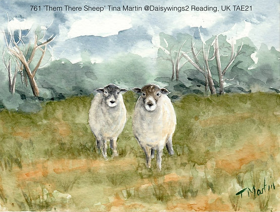 761 'Them There Sheep' Tina Martin @Daisywings2 Reading, UK TAE21