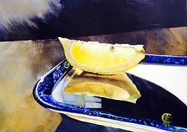 Lemon Slice Reflection SOLD