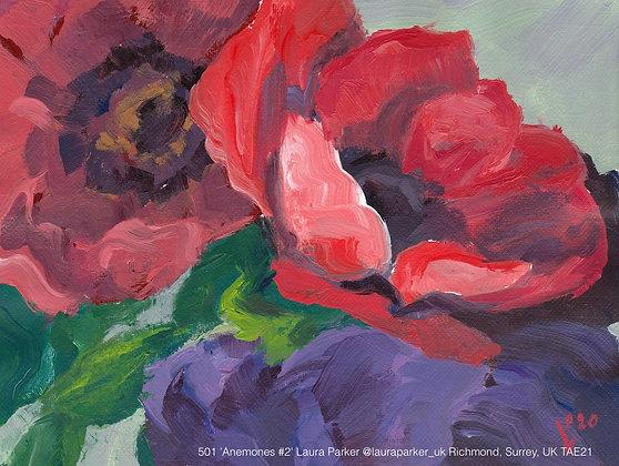 501 'Anemones #2' Laura Parker @lauraparker_uk Richmond, Surrey, UK TAE21