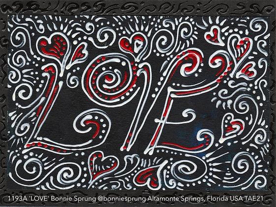 1193A 'LOVE' Bonnie Sprung @bonniesprung Altamonte Springs, Florida USA TAE21