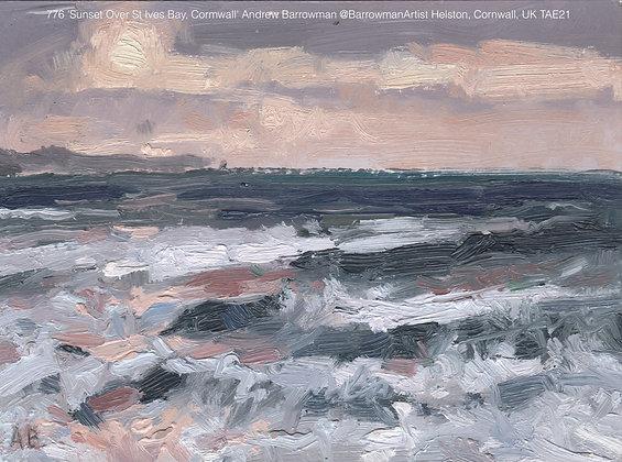 776 'Sunset Over St Ives Bay, Cornwall' Andrew Barrowman @BarrowmanArtist TAE21