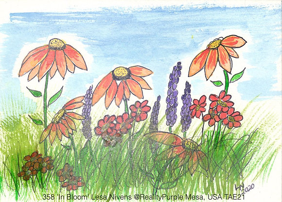 358 'In Bloom' Lesa Nivens @RealityPurple Mesa, USA TAE21