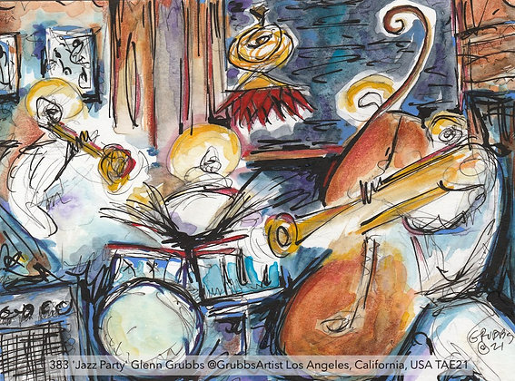 383 'Jazz Party' Glenn Grubbs @GrubbsArtist Los Angeles, California, USA TAE21