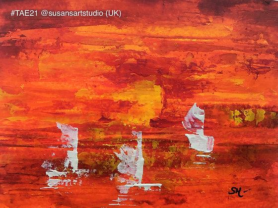 201 'Sailing at Sunset' Susan Harvey @susansartstudio Berkshire, UK