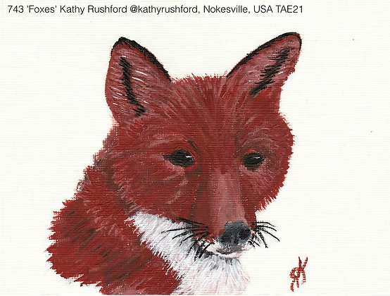743 'Foxes' Kathy Rushford @kathyrushford, Nokesville, USA TAE21