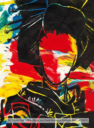 261 'Maiko' Sue Jeffries @sue_arts Great Hormead, Hertfordshire, UK TAE21