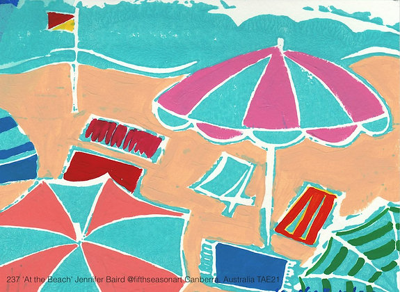 237 'At the Beach' Jennifer Baird @fifthseasonart Australia TAE21