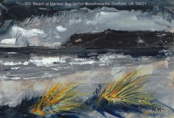 322 'Beach at Marske' Sue Nichol @staithesartist Sheffield, UK