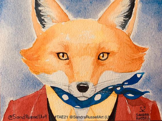 32 'Cheeky Fox' Sandra Russell @SandRussellArt, UK