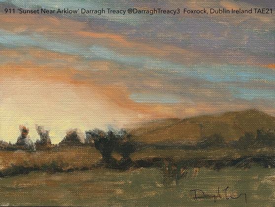 911 'Sunset Near Arklow' Darragh Treacy @DarraghTreacy3  Foxrock, Dublin TAE21