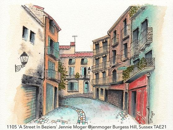 1105 'A Street In Beziers' Jennie Moger @jenmoger, Sussex TAE21