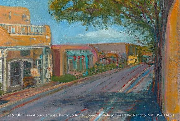 216 'Old Town Albuquerque Charm' Jo Anne Gomez @neelygomezart  USA TAE21
