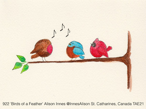 922 'Birds of a Feather' Alison Innes @InnesAlison St. Catharines, Canada TAE21