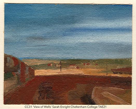 CC31 'View of Wells' Sarah Enright Cheltenham College TAE21