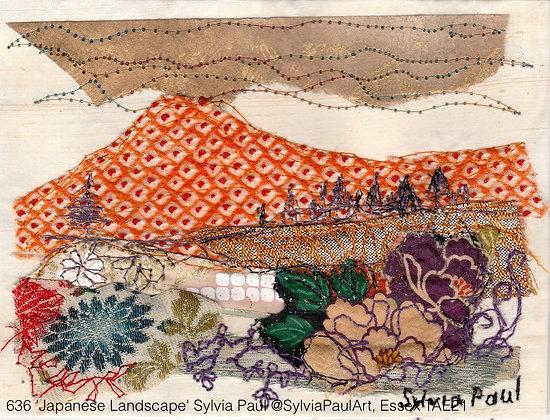 636 'Japanese Landscape' Sylvia Paul @SylviaPaulArt Harwich, Essex TAE21