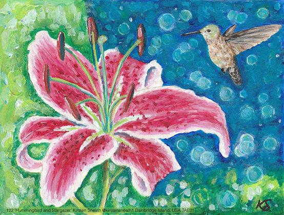 122 'Hummingbird and Stargazer' Kirsten Sneath @kirstensneath1 Bainbridge Island