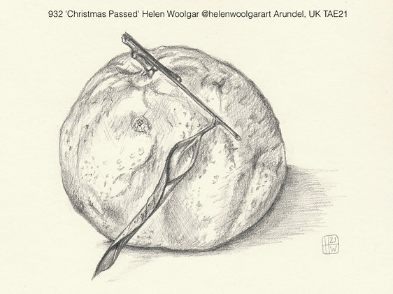 932 'Christmas Passed' Helen Woolgar @helenwoolgarart Arundel, UK TAE21