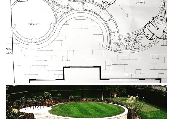 Sloping garden