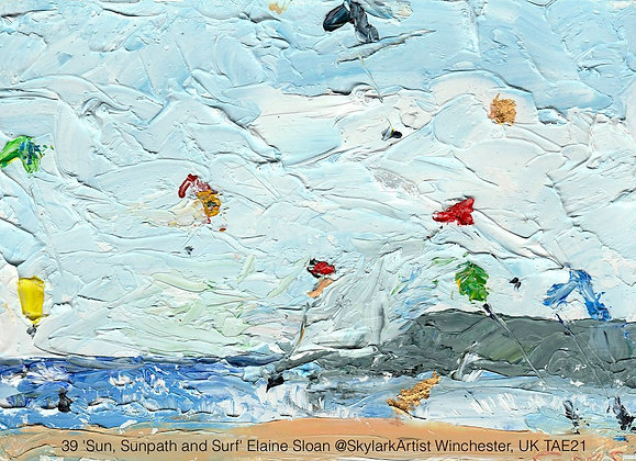 39 'Sun, Sunpath and Surf' Elaine Sloan @SkylarkArtist, UK