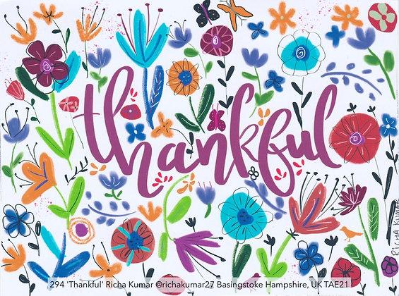 294 'Thankful' Richa Kumar @richakumar27 Basingstoke Hampshire, UK TAE21
