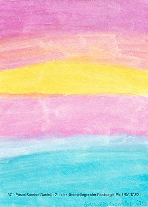371 'Pastel Sunrise' Danielle Gensler @daniellegensler Pittsburgh, PA, USA TAE21