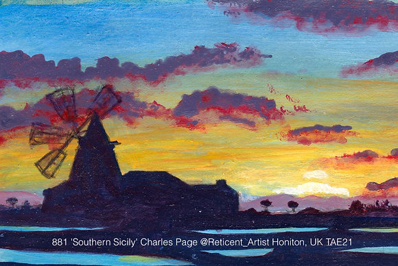 881 'Southern Sicily' Charles Page @Reticent_Artist Honiton, UK TAE21