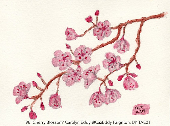 98 'Cherry Blossom' Carolyn Eddy @CazEddy Paignton, UK TAE21