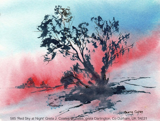 585 'Red Sky at Night' Greta J. Coates @coates_greta UK