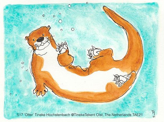 517 'Otter' Tineke Hochstenbach @TinekeTekent Olst, The Netherlands TAE21