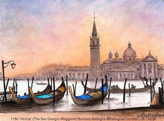 1186 'Venice' (The San Giorgio Maggiore)' Barbara Battaglia @Battagliart London,