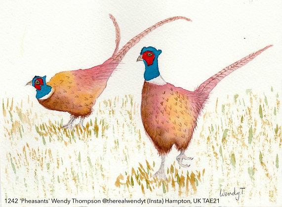 1242 'Pheasants' Wendy Thompson @therealwendyt (Insta) Hampton, UK TAE21