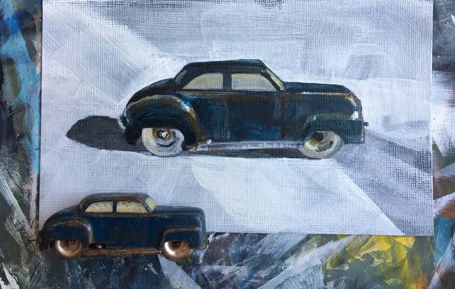 Little Blue Car - ©Cat Salter-Smith
