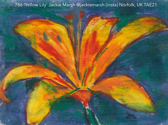786 'Yellow Lily' Jackie Marsh @jackiemarsh (insta) Norfolk, UK TAE21