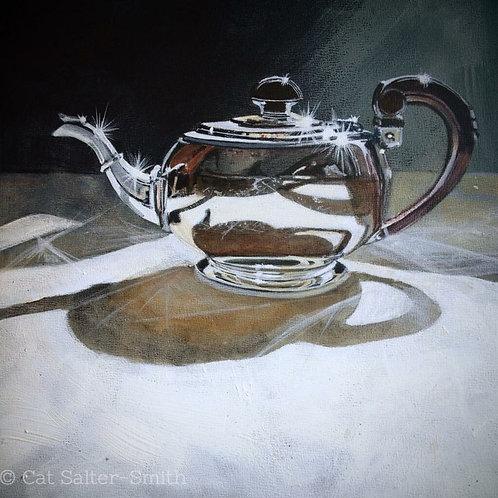 Deco Silver Teapot
