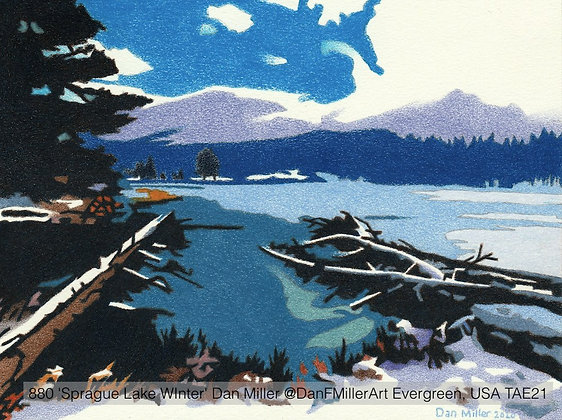 880 'Sprague Lake WInter' Dan Miller @DanFMillerArt Evergreen, USA TAE21