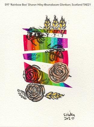 597 'Rainbow Bee' Sharon Hiley @sonabeam  Scotland TAE21