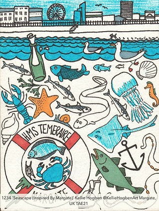 1234 'Seascape (Inspired by Margate)' Kellie Hogben @KellieHogbenArt Margate, UK