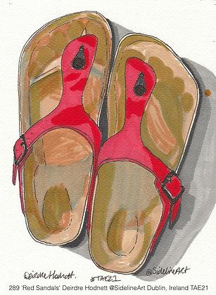 289 'Red Sandals' Deirdre Hodnett @SidelineArt Dublin, Ireland TAE21 .jpeg